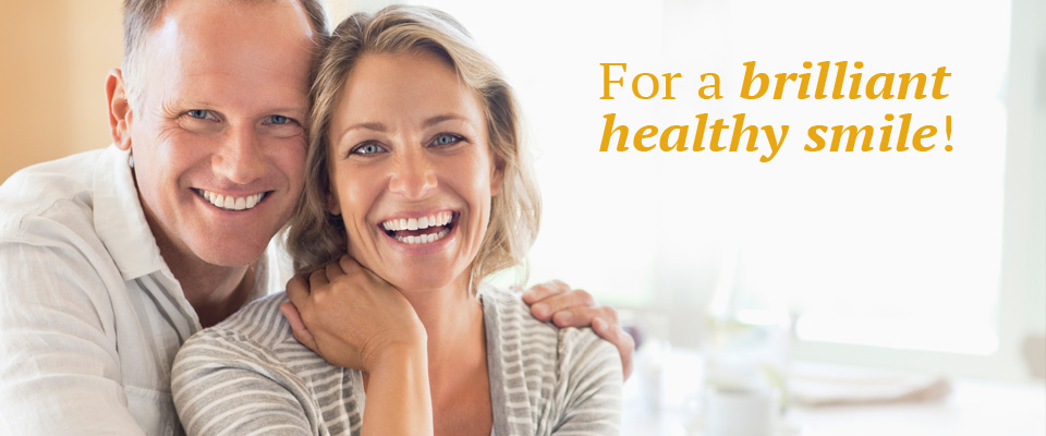 Smiling couple – For a brilliant healthy smile!